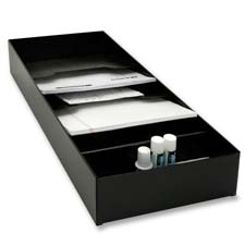 Use Narrow Stationery Rack To Tuck Office Supplies Neatly Inside Desk Drawer Has Room For Such As Staples Paper Clips Tape
