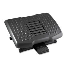 """Footrest w/ Rollers, Adjustable, 18""""x13""""x4"""", Black"""