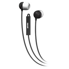 """Stereo Cellular Phone In-Ear Earbuds w/Remote, Black"""