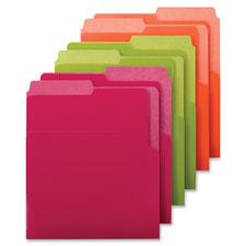 """Vertical File Folder, Ltr, ASMT2, 6/PK, AST Bright Tones"""