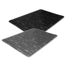 """Marble Top Mats, Anti-Fatigue, 2'x3'x1/2', Black Marble"""