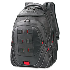 """""""Perfect Fit Backpack, Adjustable, 13""""""""x9""""""""x19"""""""", Black/Red"""""""