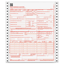 """CMS-1500 Health Insurance Forms,1-Part, 9-1/2""""x11"""",3000 Sets"""