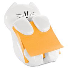 """""""Post-It Notes Cat NoteHolder, 3""""""""x3"""""""", White"""""""