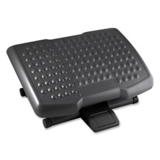 """Footrest, Adjustable Height, Ergonomic, Black"""
