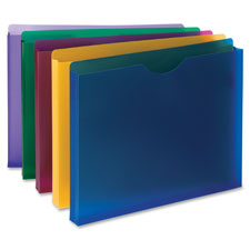 """""""Poly Expanding File Jackets, Letter, 10/PK, 1"""""""" Exp, AST"""""""