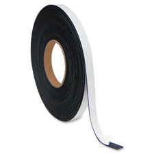 """Magnetic Adhesive Roll, 1""""x50', Black"""