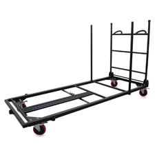 """Folding Table Cart, 30""""x45-7/25""""x75-43/50"""", Charcoal"""