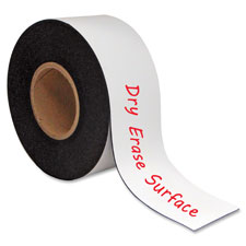 """""""Magnetic Dry Erase Roll, 2""""""""x50', 20/RL, White"""""""