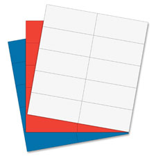 """Magnetic Dry Erase Strips, 7/8""""x2"""", 20/BG, Red"""