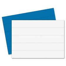 """""""Magnetic Dry Erase Strips, 7/8""""""""x6"""""""", 20/BG, Blue"""""""