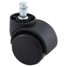 """Soft Wheel Casters, Large Neck, w/Brake, 40/ST, Black"""