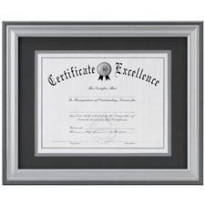 """Document Frame, Charcoal/Nickel, 8-1/2""""x11"""""""