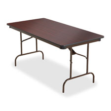 """Wood Folding Tables, 18""""x60"""", Mahogany"""