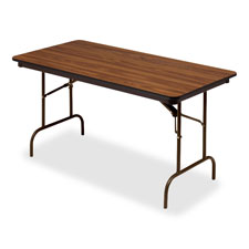 """Wood Folding Table, 18""""x60"""", Oak"""