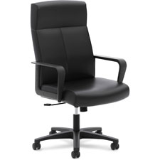 """Executive High Back Chair,5 Casters, Black"""