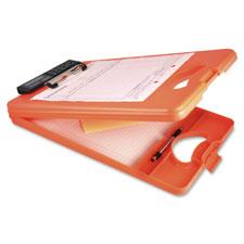 """Storage Clipboard w/Calculator, 1/2"""" Cap, Orange"""