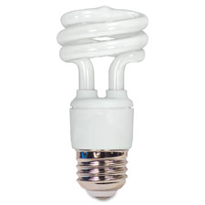 """CFL Spiral Bulb T2, 11W, 730Lumens, White"""