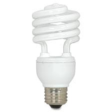 """CFL Spiral Bulb T2, 18W, 1200 Lumens, White"""