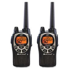 """Two-Way Radios, Pair, 36mi Range, Black"""