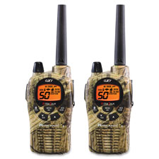 """Two-Way Radios, Pair, 36mi Range, Camouflage"""
