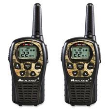 """Two-Way Radios, Pair, 24mi Range, Camouflage"""