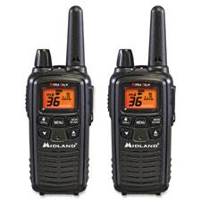 """Two-Way Radios, Pair, 24mi Range, Black"""