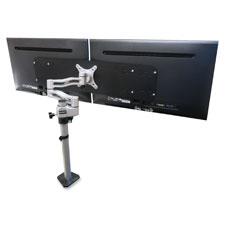 """""""Single Arm Converter, f/24"""""""" Monitors, 22lb Cap, Black"""""""