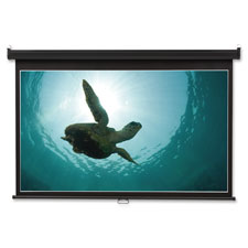 """""""Wall Projection Screen, 52""""""""x92"""""""", Black"""""""