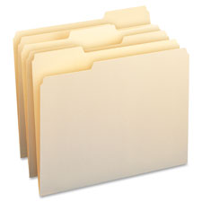 """File Folders, 11pt, 1/3Cut, 9-1/2""""x11"""", Ltr, 50/BX, MLA"""
