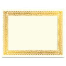 """Gold Foil Certificate, Hvy-Wt, 10/PK, Gold"""