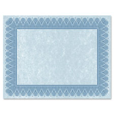 """Traditional Certificate, 24lb, 10/PK, Blue"""