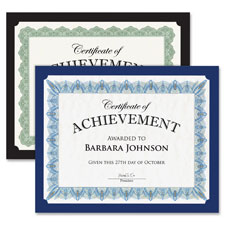 """""""Traditional Certificates, 10/PK, Navy"""""""