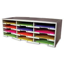 """""""Organizer,12 Compartments,Plastic,14.13""""""""x31.4""""""""x10.5"""""""",Gray"""""""