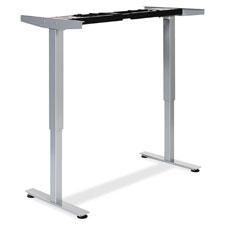 """SitStand Desk Frame 2D, Adj, 44-1/4""""x20""""x26-1/2"""", Silver"""