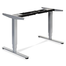 """SitStand Desk Frame 3D, 26-3/5x44-1/4""""x23-2/5"""", Silver"""