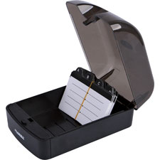 """Rotary File Card, 350 Capacity, Black"""