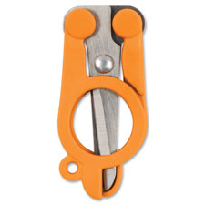 """Original Folding Scissors, Stainltess Steel Blade, Orange"""