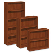 """""""4-Shelves Bookcase, 36""""""""x13""""""""x57"""""""", Cognac"""""""