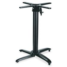 """""""Foldable Table Base, 24-1/2""""""""x24-1/2""""""""x28"""""""", Black"""""""