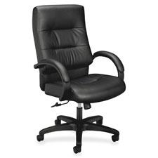 """""""Executive Hi-Back Chair, 27""""""""x28-3/4""""""""x47-1/4"""""""", Black"""""""