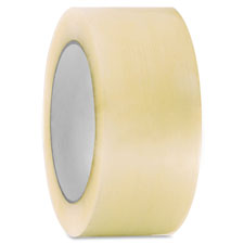 """Hot Melt Packing Tape, 1.9Mil, 3""""x55 Yds, 24/CT, CL"""