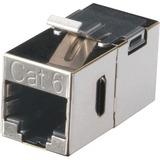 CAT6 SHL STRAIGHT-PIN KYST COUPLER SV