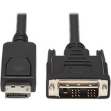 Tripp Lite 10ft Displayport to DVI Cable Latches to DVI-D Single Link M/M
