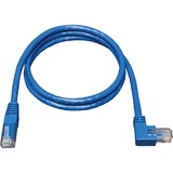 Tripp Lite 10ft Cat6 Molded Patch Cable Right Angle M to RJ45 M Blue 10ft.