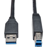 3ft USB 3.0 SuperSpeed Device Cable 5 Gbps AB M/M Black 3ft.