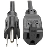 Tripp Lite Computer Power Extension Cord 10A 18AWG 5-15P to 5-15R Black 10ft.