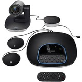 Logitech Group Conference (Bundle System includes PTZ Camera Speakerphone Hub Pair of Expansion Microphones & Remote ) - B2B Only