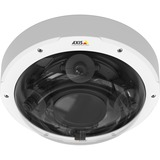 AXIS P3707-PE FIXED DOME NETWORK CAMERA - Flexible multisensor fixed camera with four 1080p sensors. The lenses can be adjusted to provide a 108 degree to 54 degree horizontal field of view for either a wide, panoramic view, or detailed, zoomed-in views. The lenses can be rotated to support vertically oriented scenes in Corridor Format. Supports individually configurable video streams from each camera head, as well as quad view streaming, enabling 4x 1080p resolution videos at 12.5/15 fps or 4x 720p resolution videos at full frame rate. Zipstream technology is supported to lower bandwidth and storage requirements. Power Over Ethernet Class 2.