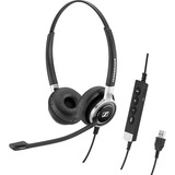 Double-sided wired USB headset with ANC